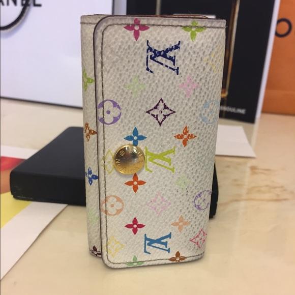 Louis Vuitton Handbags - Louis Vuitton key case multicolor white